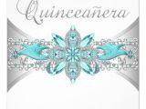 Turquoise Quinceanera Invitations Turquoise Blue Silver Quinceanera Invitations 5 25 Quot Square