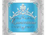 Turquoise Quinceanera Invitations Turquoise Quinceanera 15th Birthday Silver Tiara 5 25×5 25