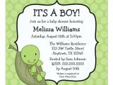 Turtle Invitations for Baby Shower Turtle Green Dots Baby Shower Invitations