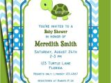 Turtle Invitations for Baby Shower Turtle Invitation Printable or Printed with Free Shipping