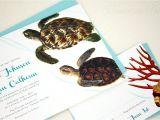Turtle Wedding Invitations Concertina Press Sea Turtle Beach Wedding Invitations