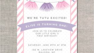 Tutu Birthday Party Invitations Tutu Excited Uh Oh Pasghettio