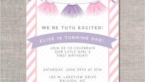 Tutu Birthday Party Invitations Tutu Excited Uh Oh Pasghettio
