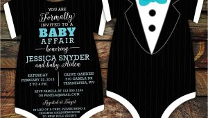 Tuxedo Baby Shower Invitations 10 Tuxedo Baby Shower Invitations Black Tie Invitation Die