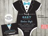 Tuxedo Baby Shower Invitations Tuxedo Baby Shower Invitation Template Black Tie Invitation