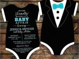 Tuxedo Onesie Baby Shower Invitations 10 Tuxedo Baby Shower Invitations Black Tie Invitation Die