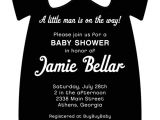 Tuxedo Onesie Baby Shower Invitations Black Tux Esie Bow Tie Baby Shower Invitation