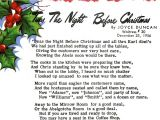 Twas the Night before Christmas Party Invitation Twas before Night Christmas X Mas