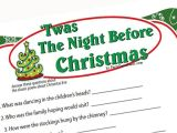 Twas the Night before Christmas Party Invitation Twas the Night before Christmas Game Printable Game