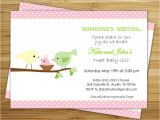 Tweety Bird Baby Shower Invitations Colors sophisticated Pink Bird Baby Shower Invitations