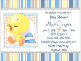 Tweety Bird Baby Shower Invitations Custom Baby Boy Tweety Bird Shower Invitations Flat Cards