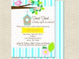 Tweety Bird Baby Shower Invitations Invitation for Baby Shower Cozy Bird Baby Shower