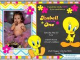 Tweety Bird Baby Shower Invitations Tweety Bird Birthday Invitation