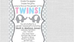 Twin Gender Reveal Party Invitations 8 Gender Reveal Party Invitations Psd Png Vector Eps