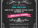 Twin Gender Reveal Party Invitations Gender Reveal Baby Shower Invitation Ties or Tutus Baby