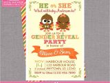 Twin Gender Reveal Party Invitations Twin Gender Reveal Invitations Digital