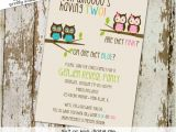 Twin Gender Reveal Party Invitations Twins Gender Reveal Invitation Owl Baby Shower Invitation Twin