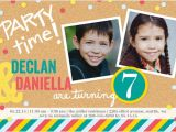Twin Girl Birthday Party Invitations Twins Boy or Girl Photo Birthday Invite Shutterfly
