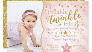Twinkle Twinkle Little Star Birthday Invitation Template Free Twinkle Twinkle Little Star Birthday Invitation Zazzle