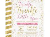 Twinkle Twinkle Little Star Girl Baby Shower Invitations Girly Cute Pink Girl Baby Shower Invitations & Party Ideas