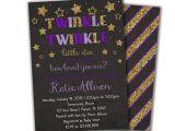 Twinkle Twinkle Little Star Girl Baby Shower Invitations Purple Twinkle Twinkle Little Star Invitation Girl Baby