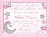 Twinkle Twinkle Little Star Girl Baby Shower Invitations Twinkle Twinkle Little Star Baby Shower Invitation Moon