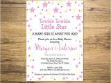 Twinkle Twinkle Little Star Girl Baby Shower Invitations Twinkle Twinkle Little Star Baby Shower Invitation Star