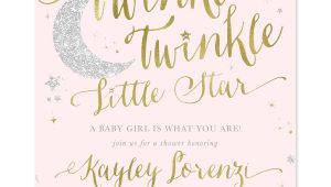 Twinkle Twinkle Little Star Girl Baby Shower Invitations Twinkle Twinkle Little Star Girl Baby Shower or Sprinkle