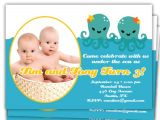 Twins 2nd Birthday Invitation Wording Items Similar to Twins Under the Sea Birthday 1st 2nd