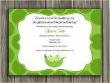 Two Peas In A Pod Baby Shower Invitations for Twins Two Peas In A Pod Baby Shower Invitations