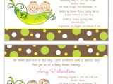 Two Peas In A Pod Baby Shower Invitations for Twins Two Peas In A Pod Twins Baby Shower Invitations Boy Girl