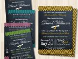 Two Sided Graduation Party Invitations Graduation Chalkboard Double Sided Invitation Diy Card