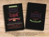 Two Sided Graduation Party Invitations Graduation Party Vintage Chalkboard Double Sided Printable