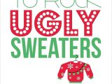 Ugly Christmas Sweater Party Invites Items Similar to Ugly Sweater Party Invitations Set Of