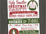 Ugly Sweater Christmas Party Invitations Wording Ugly Christmas Sweater Contest Flyer Happy Holidays