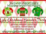Ugly Sweater Christmas Party Invitations Wording Ugly Christmas Sweater Party Flyer Invitation Templates