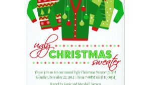 Ugly Sweater Holiday Party Invitation Template Ugly Christmas Sweater Holiday Party Invitation Zazzle Com