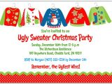 Ugly Sweater Party Invitation Poem Christmas Party Invitations Ugly Sweater