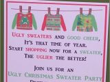 Ugly Sweater Party Invitation Poem Invitations Ugly Sweater Party Christmas by