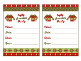 Ugly Sweater Party Invite Template Baptism Invitation Ugly Sweater Invitation Template Free