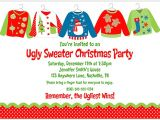 Ugly Sweater Party Invites Christmas Party Invitations Ugly Sweater