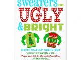 Ugly Sweater Party Invites Ugly and Bright Christmas Sweaters Party 5×7 Paper