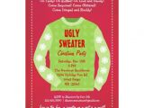 Ugly Sweater Party Invites Ugly Sweater Holiday Party Invitation