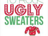 Ugly Xmas Sweater Party Invites Items Similar to Ugly Sweater Party Invitations Set Of