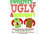 Ugly Xmas Sweater Party Invites Ugly Christmas Sweater Party Invitations