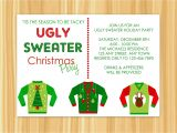 Ugly Xmas Sweater Party Invites Ugly Sweater Christmas Party Invitations