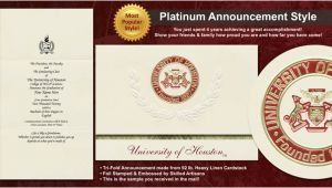 Uh Graduation Invitations University Of Houston Graduation Announcements