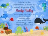 Under the Sea Baby Shower Invitation Templates Ocean themed Baby Shower Invitations