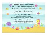 Under the Sea Baby Shower Invitation Templates Under the Sea Baby Shower Invitation