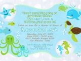 Under the Sea Baby Shower Invitation Templates Under the Sea Baby Shower Invitations Free Templates